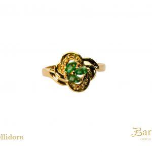 anello vintage diamanti