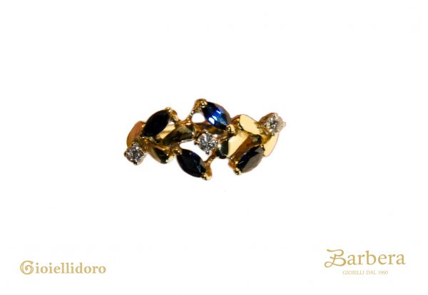 anello vintage con diamanti