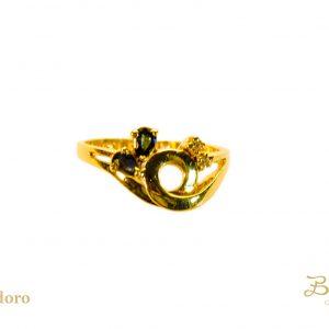 anello con zaffiro vintage