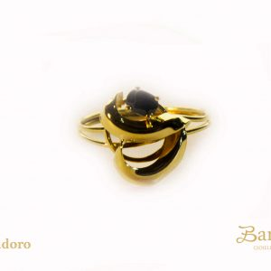 anello donna vintage zaffiro