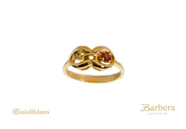 anello vintage in oro giallo