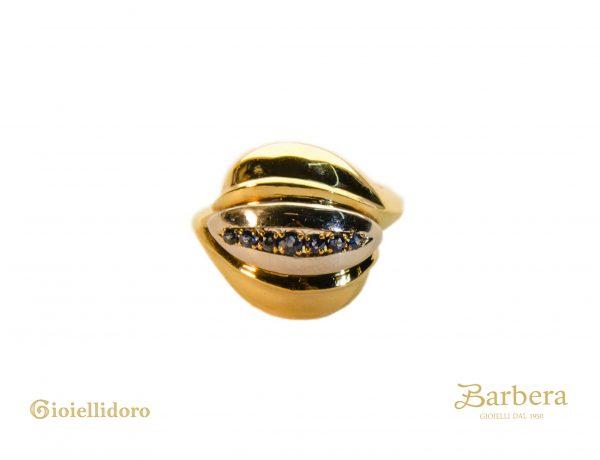 anello vintage zaffiri blu